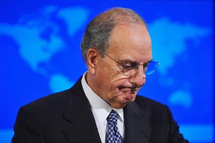 L'envoyé spécial américain pour le Proche-Orient, George Mitchell... (Photo: AFP)