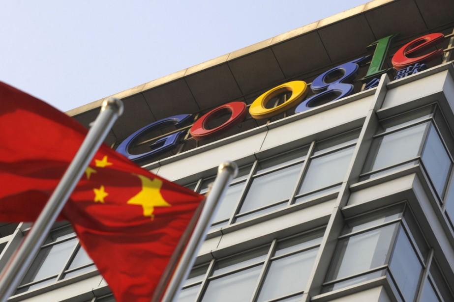 Le siège social de Google à Pékin... (Photo: AFP)