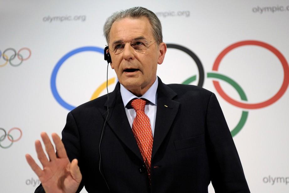 Le président du Comité international olympique, Jacques Rogge... (Photo: AFP)