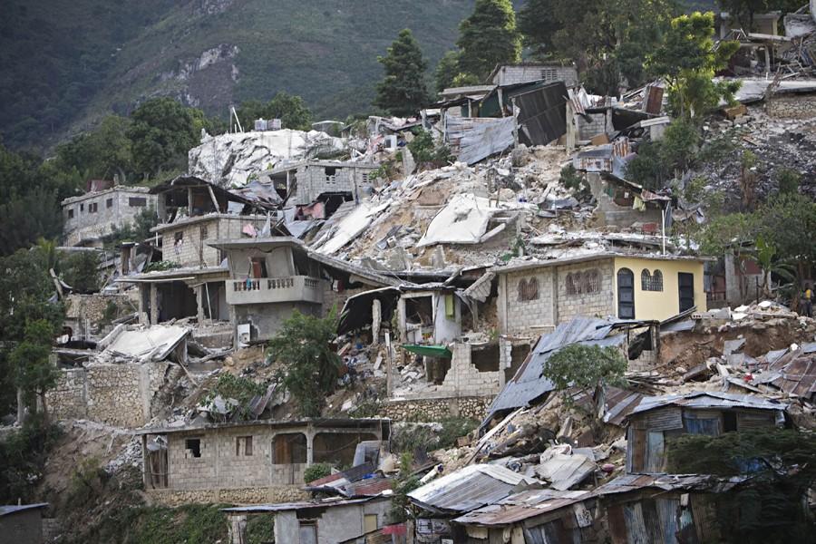 Le séisme de mardi dernier a causé d'importants... (Photo: Ivanoh Demers, La Presse)