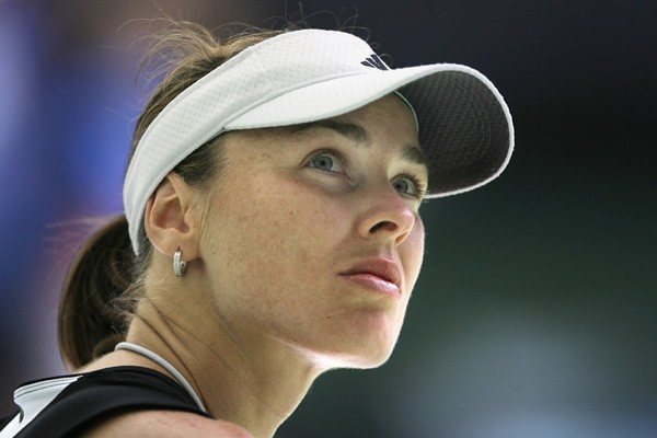 La Suissesse Martina Hingis.... (Photo AFP)