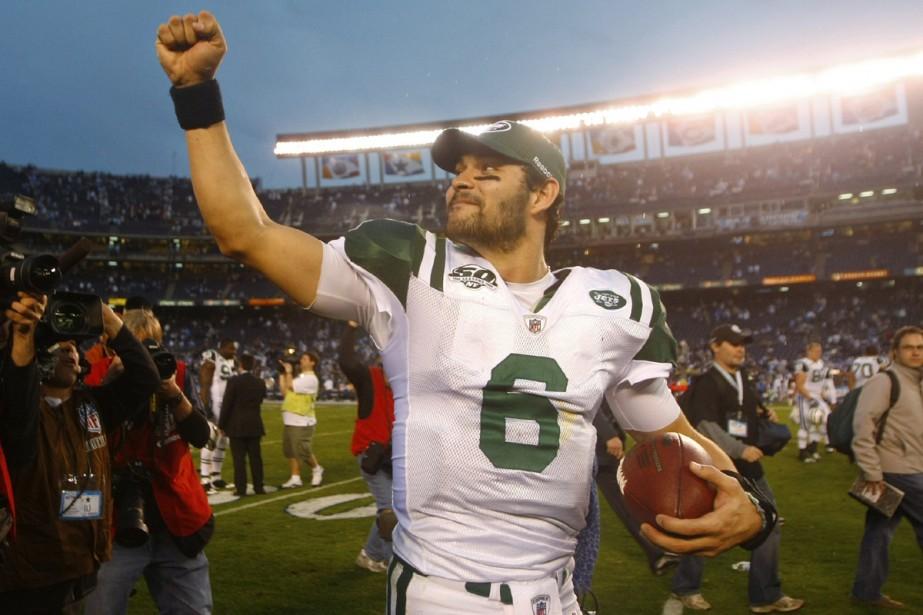 Mark Sanchez après la victoire de ses Jets... (Photo: Reuters)