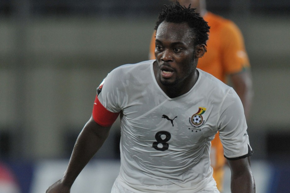 Michael Essien... (Photo: AFP)