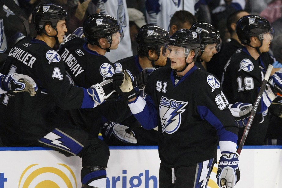 Steven Stamkos et Vincent Lecavalier... (Photo: AP)