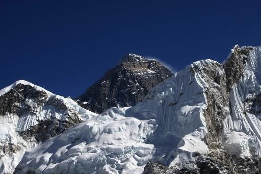 La fonte des glaciers de l'Everest est au... (Photo: AFP)