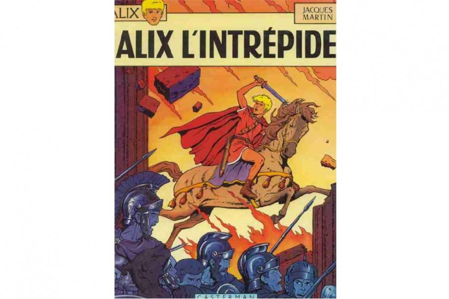 Le dessinateur de bandes dessinées français Jacques Martin, créateur du héros...