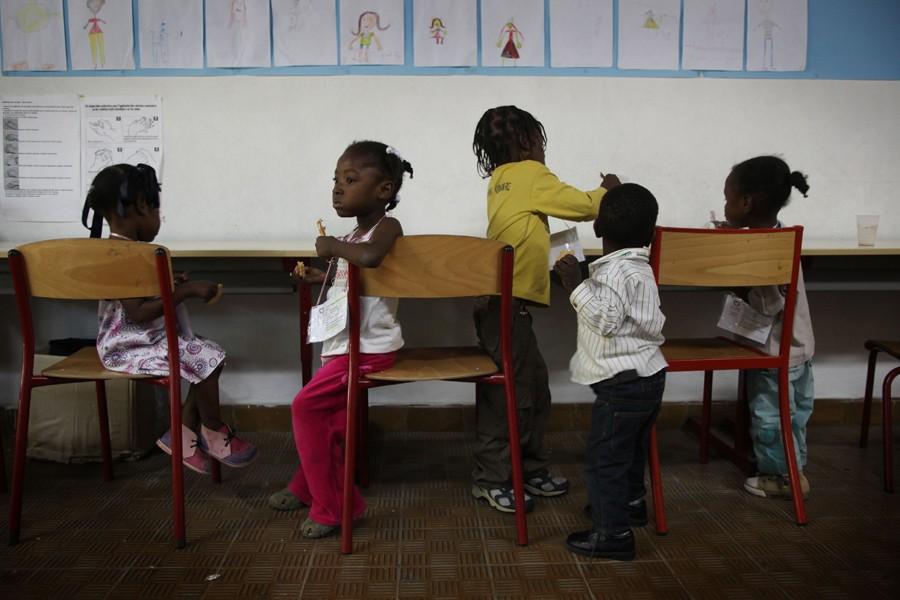 Des orphelins haïtiens.... (Photo: AFP)