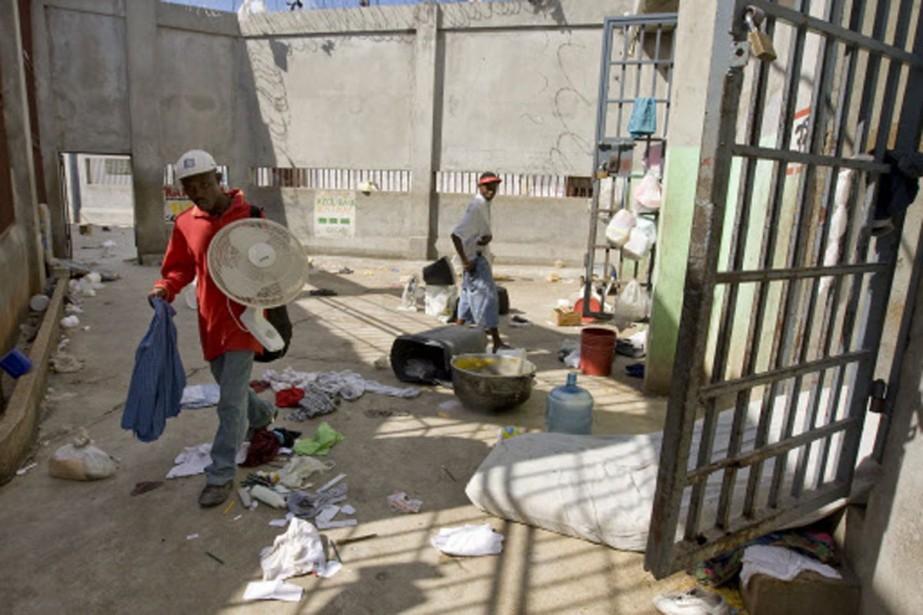 La plus importante prison de Port-au-Prince a été... (Photo: AFP)