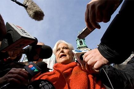 Louise Harel commentait des allégations de corruption au... (Photo: André Tremblay, archives La Presse)