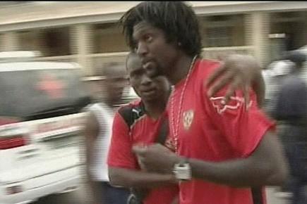 Le capitaine de l'équipe nationale togolaise, Emmanuel Adebayor.... (Photo: AP)