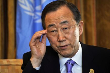 Le secrétaire général de l'ONU Ban Ki-Moon.... (Photo: Simon Maina, AFP)