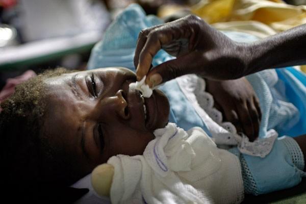 La petite Betina Joseph, 5 ans, a été... (Photo AP)