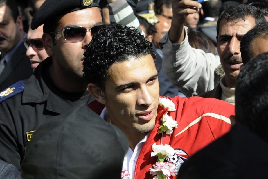 Mohamed Gedo Nagy, auteur du but décisif dimanche... (Photo: AFP)