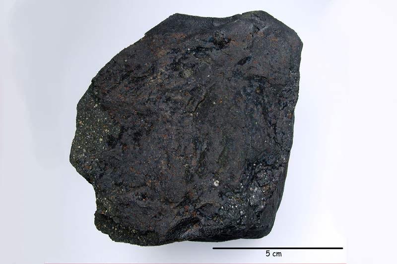 Une météorite d'un poids exceptionnel de 1,3 kg et peu altérée... (Photo AFP)