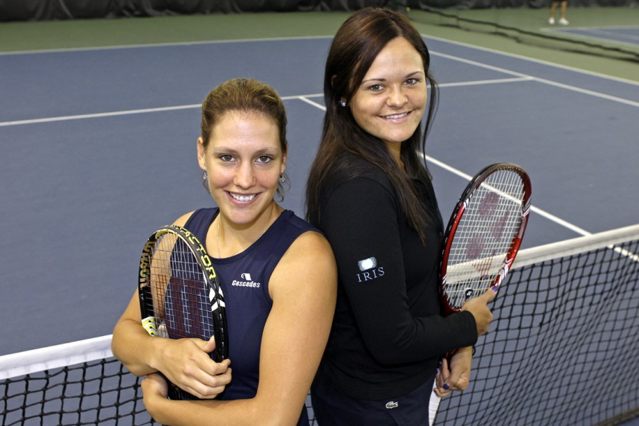 Stéphanie Dubois et Aleksandra Wozniak... (Photo: Robert Mailloux, La Presse)