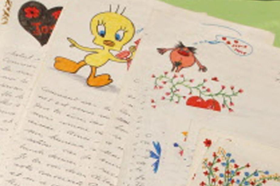Accompagnées de petits dessins enfantins, les lettres d'amour... (Photo: Reuters)