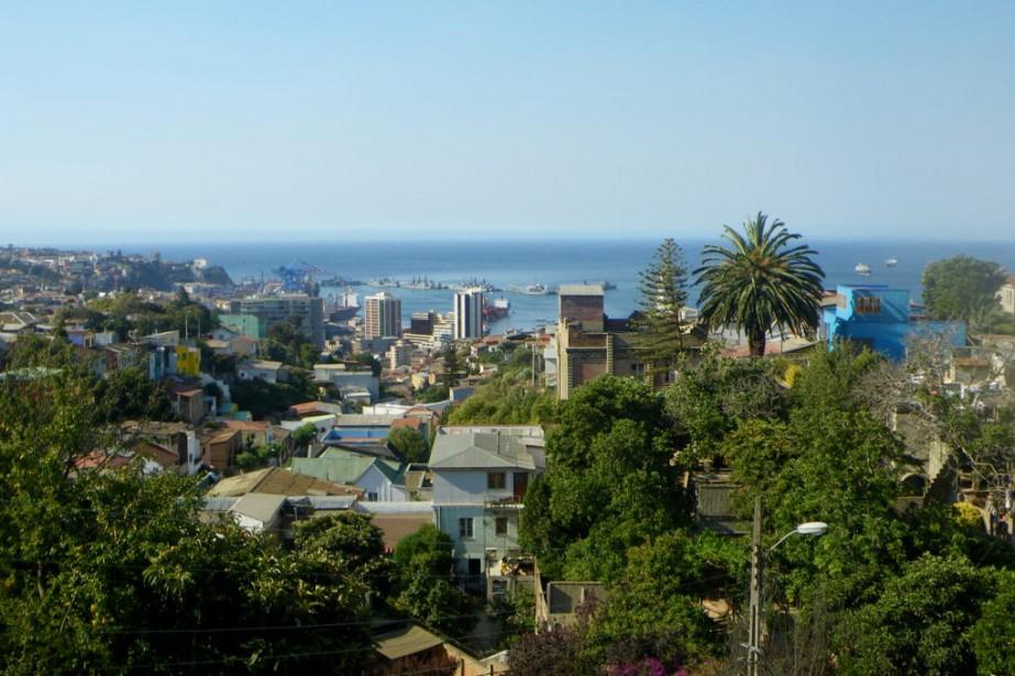 Vue sur la baie de Valparaiso à partir... (Photo: Yann Perreau)