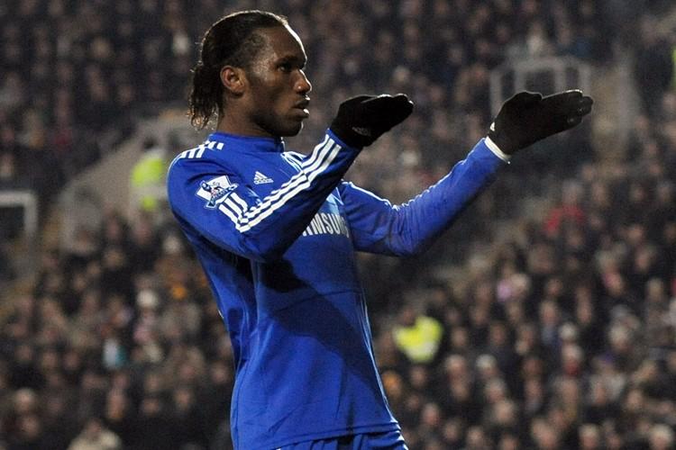 Didier Drogba a marqué le but de Chelsea... (Photo: AFP)