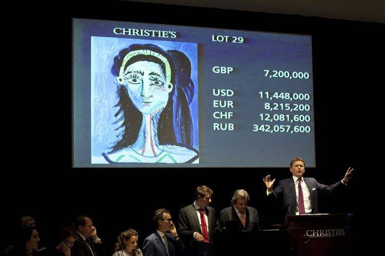 Le tableau Tête de Femme a atteint une... (Photo: AFP)