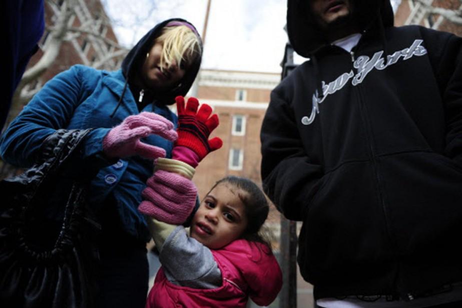 Kariana, 3 ans, vit avec ses parents dans... (Photo: AFP)