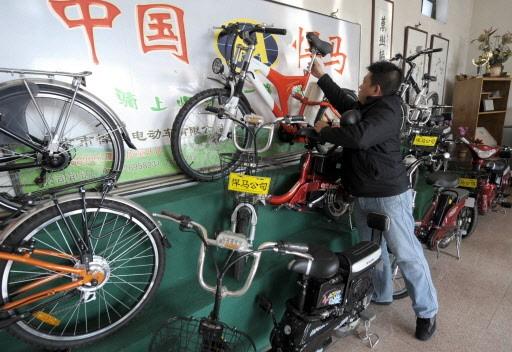 Une fabrique de vélos électrique de Zhongdong. La... (Photo: AFP)