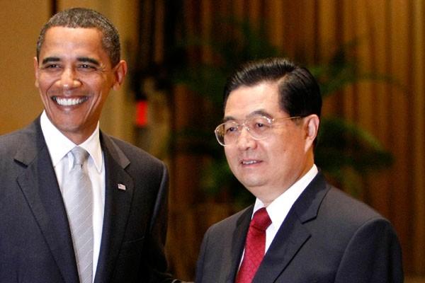 Barack Obama et Hu Jintao à New York... (Photo Reuters)