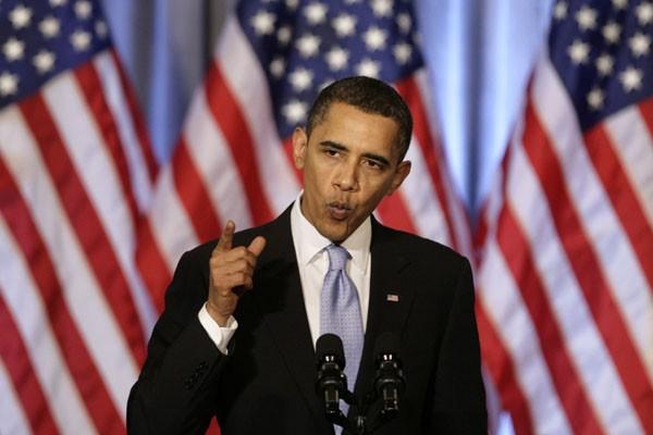 Barack Obama a appelé jeudi soir ses partisans à ne pas abandonner... (Photo AFP)
