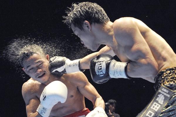 Le Japonais Daiki Kameda a conquis dimanche le titre WBA des poids... (Photo AP)