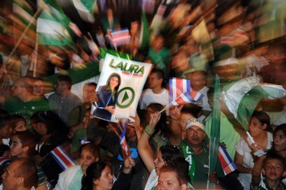 Des supporters de Laura Chinchilla ont éclaté de... (Photo: AFP)