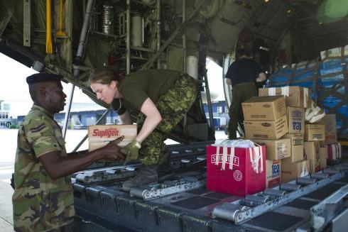 L'aide humanitaire versHaiti se fait à partir de... (Photo: Martin Chamberland, La Presse)