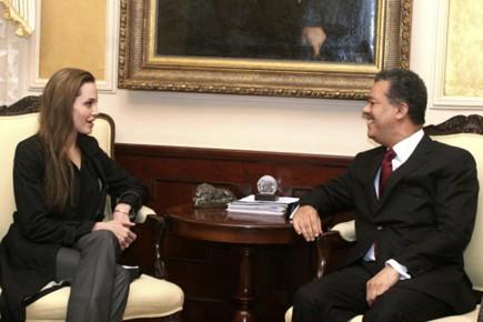 Angelina Jolie s'est entretenue avec le président de... (Photo: Reuters)