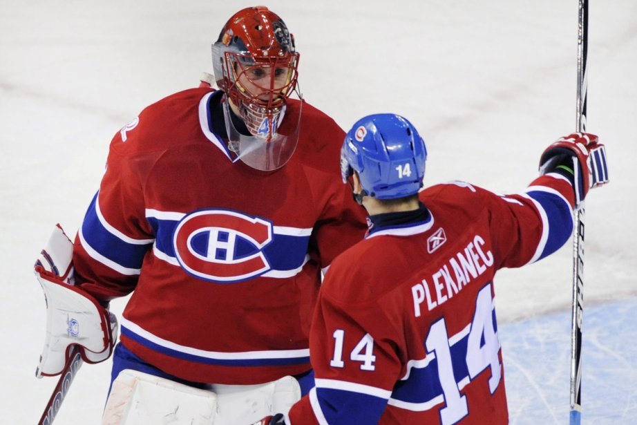 Jaroslav Halak et Tomas Plekanec... (Photo: PC)