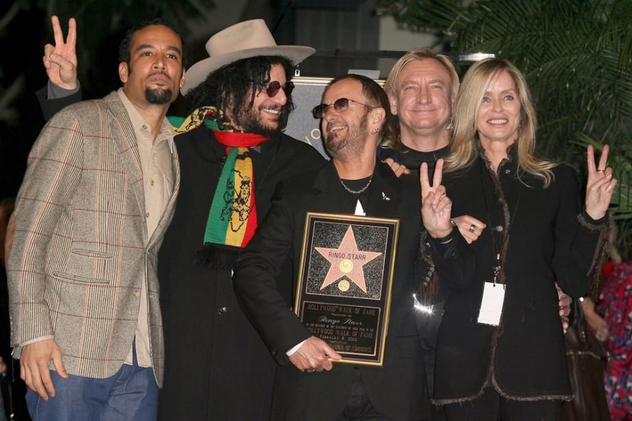 Ben Harper, Don Wasand, Joe Walsh, Ringo Starr... (Photo: AFP)