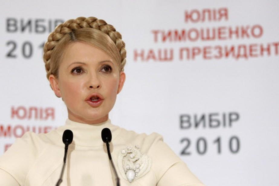 Ioulia Timochenko conteste le résultat de l'élection présidentielle.... (Photo: AP)