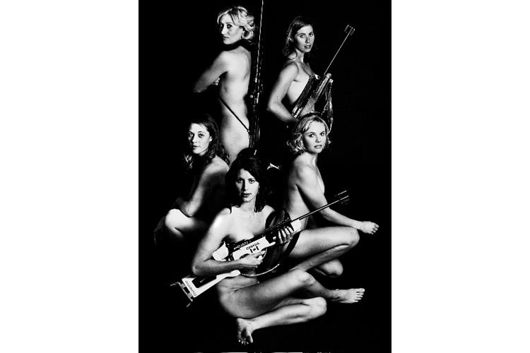 Les biathlètes canadiennes Zina Kocher, Megan Imrie, Sandra... (Photo: PC)