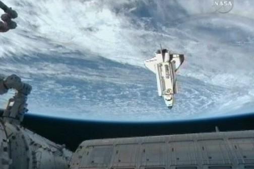 Le navette Endeavour... (Photo: Reuters)