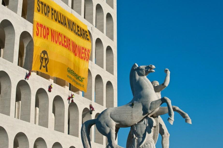 Le 19 janvier dernier, des militants de Greenpeace... (Photo: AFP)