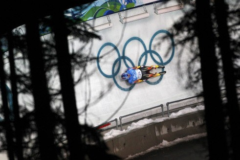 Le piste de luge à Vancouver... (Photo: Reuters)