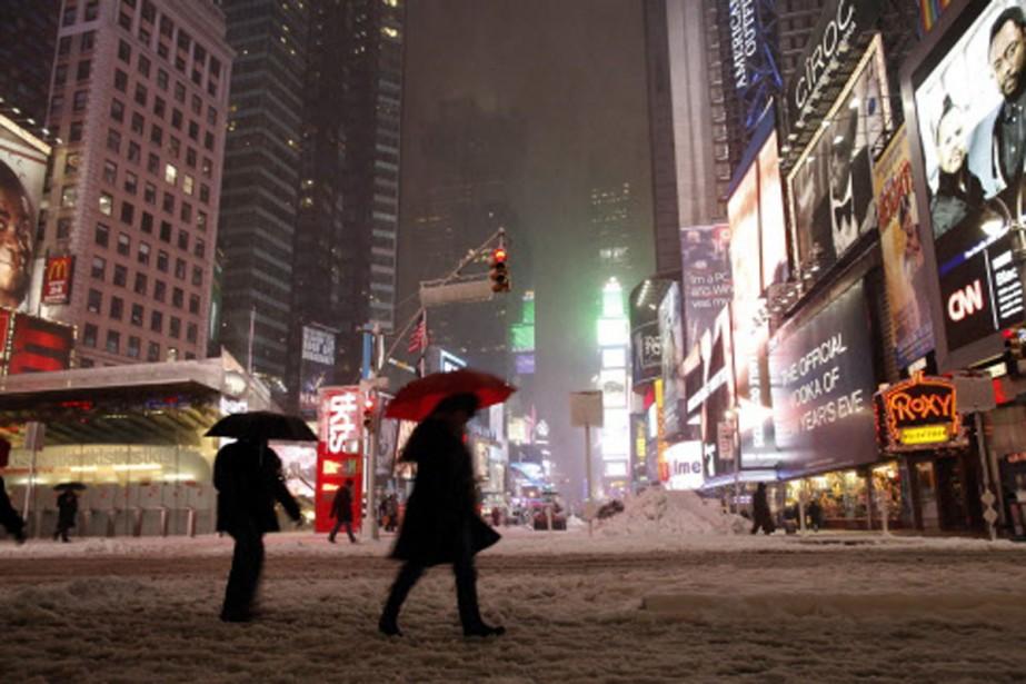 Time Square sous la neige. La vie devrait... (Photo: AFP)