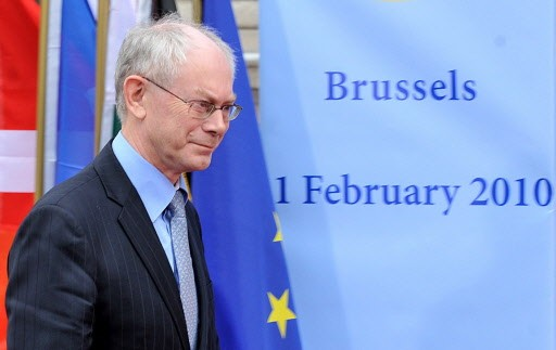 Le président de l'Union européenne, Herman Van Rompuy.... (Photo AFP)