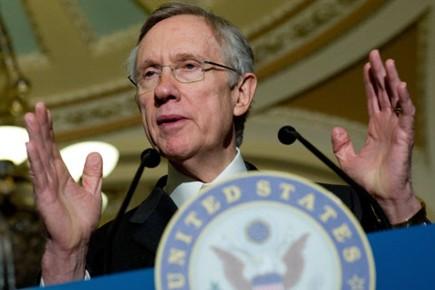 Le chef de la majorité démocrate du Sénat,... (Photo: AFP)
