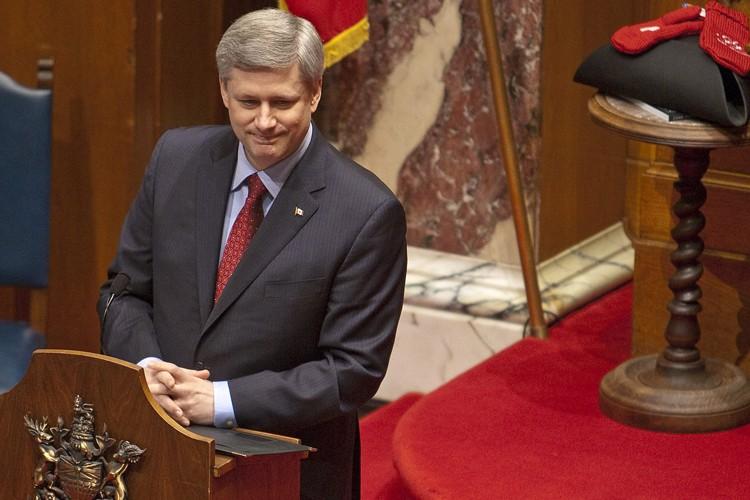 Stephen Harper a prononcé un discours à l'Assemblée... (Photo: PC)