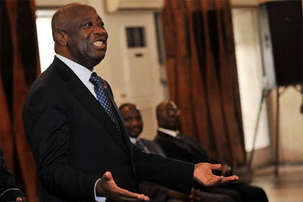 Le président sortant Laurent Gbagbo dit craindre des... (Photo: archives AFP)