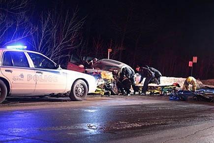 Un accident à Val-Bélair le 4 février a... (Photo: Patrick Garrant, collaboration spéciale Le Soleil)