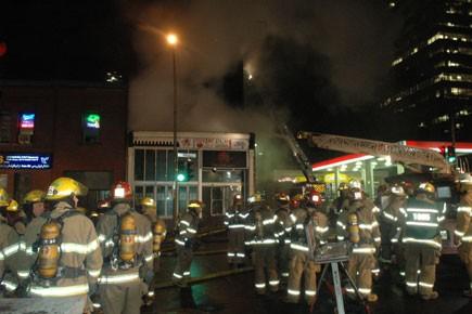 Un incendie a ravagé... (Photo: Sylvain Ryan, collaboration spéciale, La Presse)