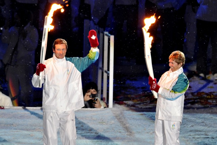 Wayne Gretzky et Nancy Greene... (Photo: Bernard Brault, La Presse)