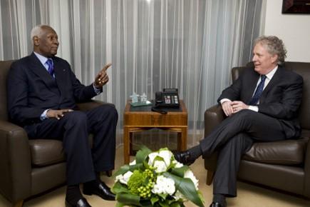 Jean Charest s'est entretenu avec le Secrétaire général... (Photo: PC)