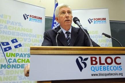 Le chef du Bloc québécois poursuivra lundi sa tournée en... (Photo: La Tribune)