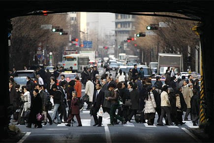 L'économie japonaise a subi en 2009 une très... (Photo: Reuters)