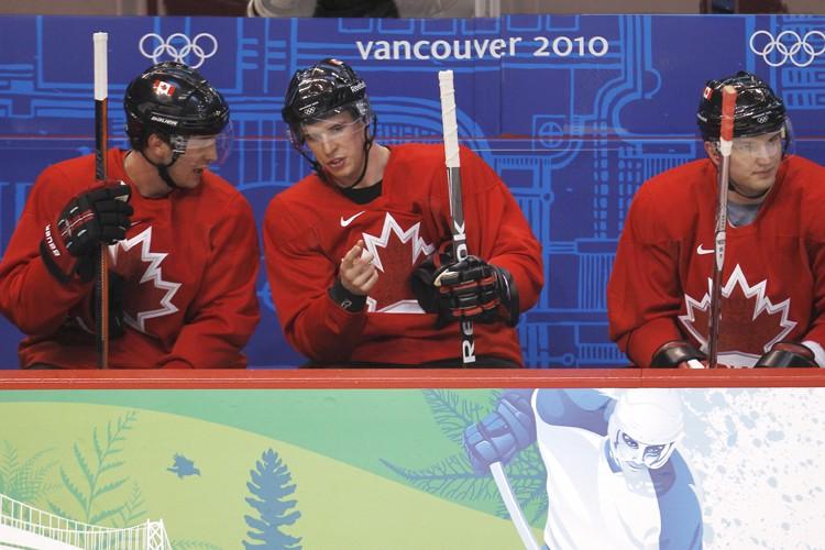 Patrice Bergeron, Sidney Crosby et Rick Nash... (Photo: Reuters)